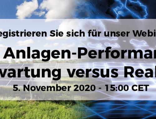 [WEBINAR] PV Anlagen-Performance: Erwartung versus Realität