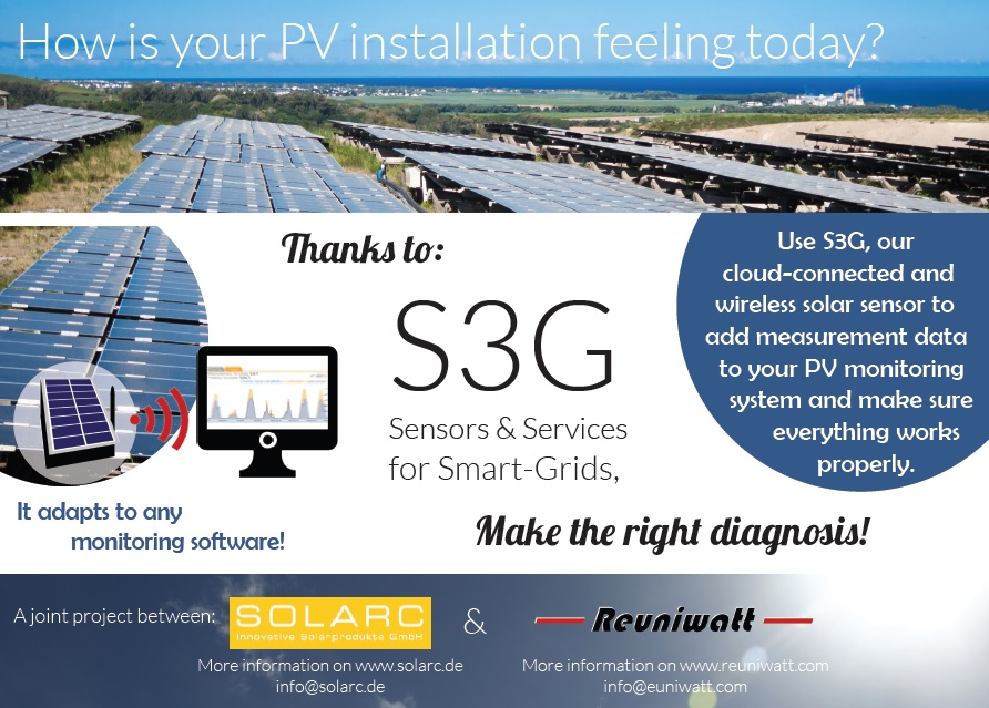 Reuniwatt and SOLARC launch their joint product S3G during  EU PVSEC 2014