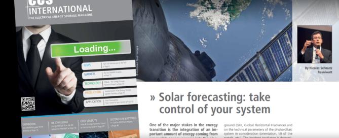 forecast solar storage
