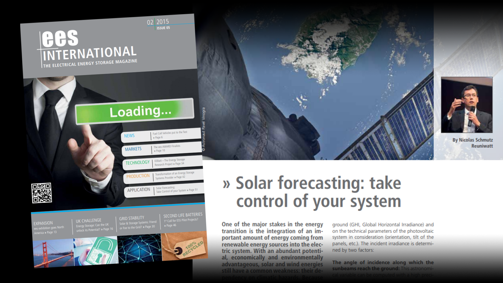 Solar forecasting: take control of your system, in EES Intl. Magazine