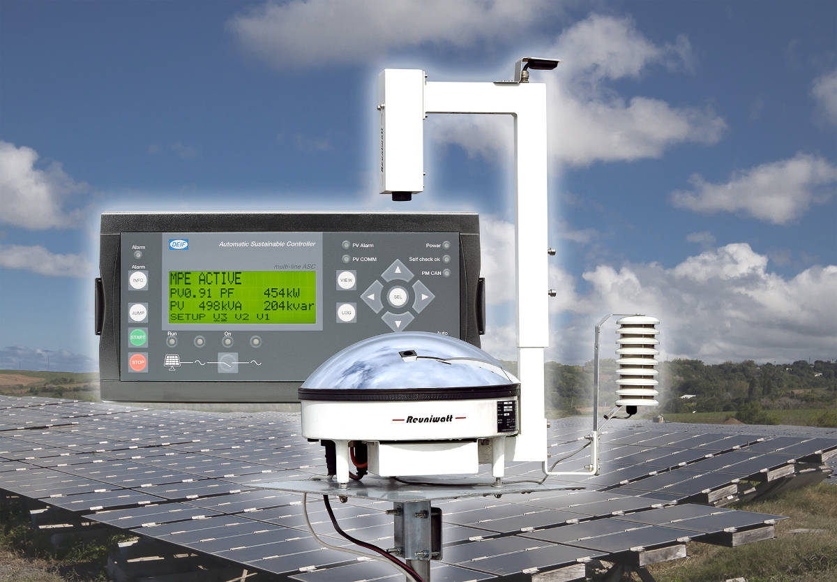 DEIF's controller systems and Reuniwatt's ground imagers are compatible to optimise PV consumption on hybrid projects