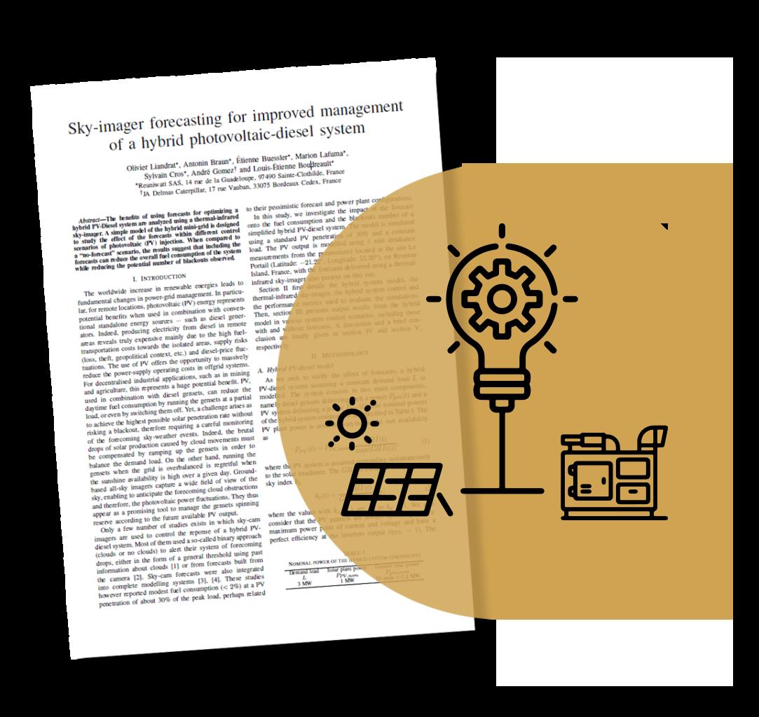 Reuniwatt hybrid solar