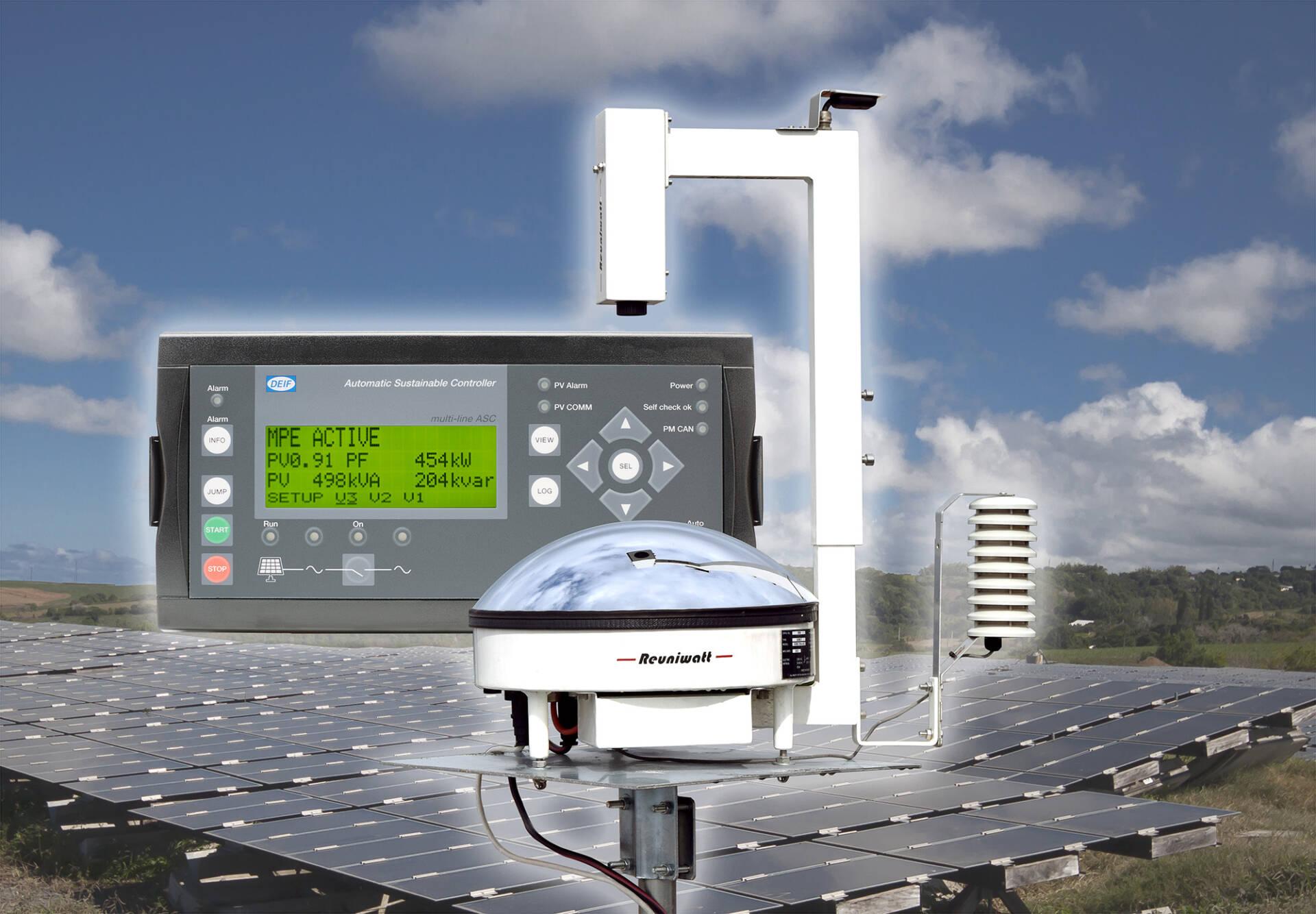 Les systèmes de contrôle de DEIF et les imageurs sol de Reuniwatt sont compatibles pour optimiser la consommation PV au sein de projets hybrides