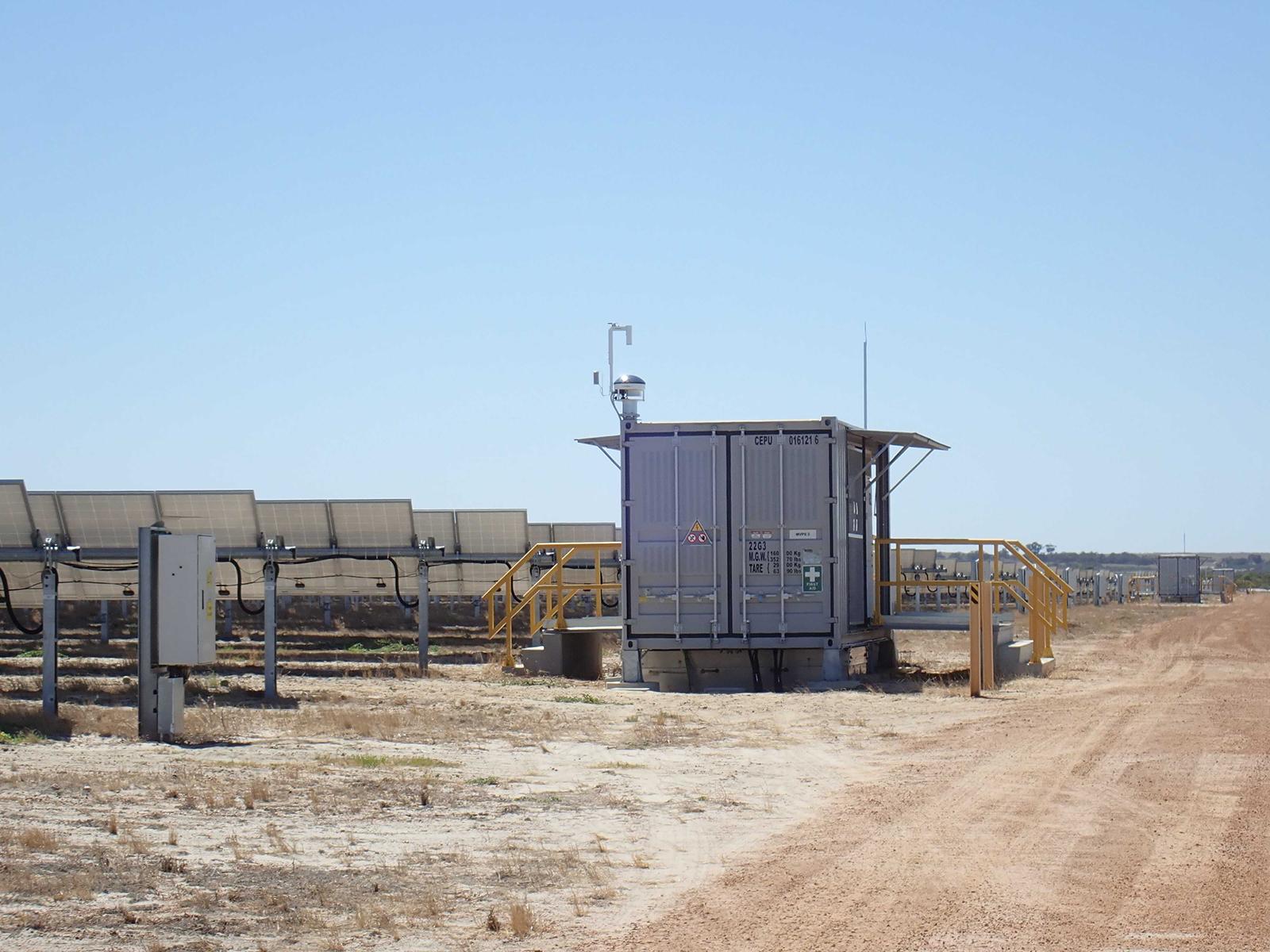 Imageur du ciel Sky InSight installé sur un site isolé en Australie. Photo : Reuniwatt