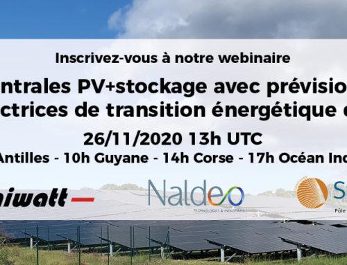 [WEBINAIRE] Centrales PV+stockage avec prévision : solutions vectrices de transition énergétique dans les ZNI